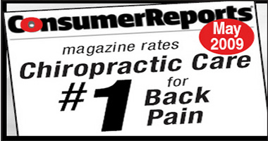 Consumer Reports Rates Chiropractic #1