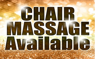 therapeutic chair massage available daily